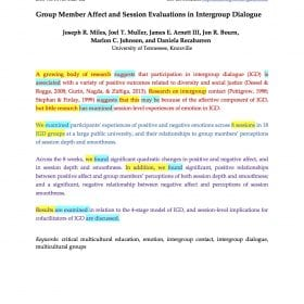 Group Member Affect phrases and tenses
